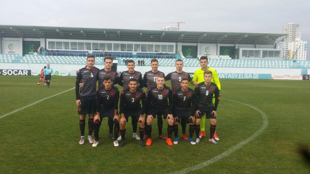 Kombetarja U20 ne ndeshjen e fundit miqesore ne Gjeorgji.